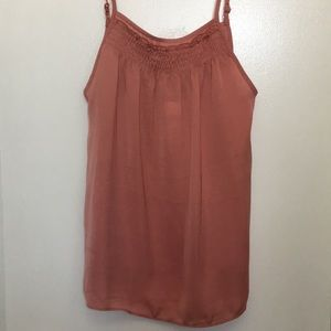 Anthropologie dusty rose camisole top XS